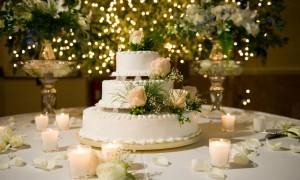 Зимний свадебной торт