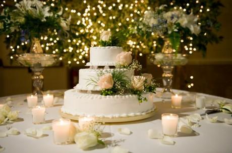 Свадебной торт для зимней свадьбы
