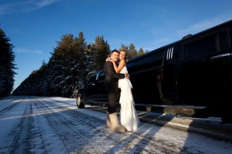 Свадебный кортеж – лимузин