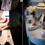 Подбирай запонки в тон свадебным аксессуарам невесты