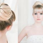 Пучок - идеальный вариант для длинноволосой блондинки