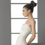 Пучок -  одна из самых элегантных свадебных причесок