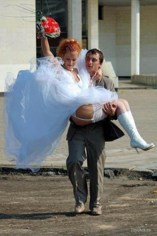 а невеста бес трусов