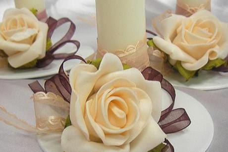 Украшение свадебного стола розами