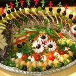 Рыбные свадебные блюда: украшение