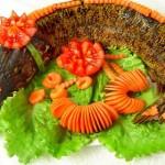 Украшение рыбных блюд на свадьбе