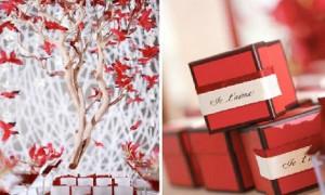 Бело-красная свадебная палитра