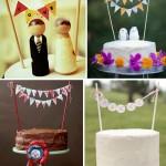 Яркие и красочные флажки - прекрасное украшение для свадебного торта