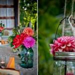 Цветы можно положить не только в вазочки, но и в банки