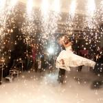 И вся свадьба в огнях