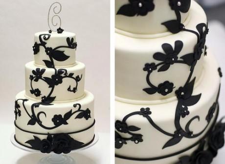 Свадебный торт на контрастах