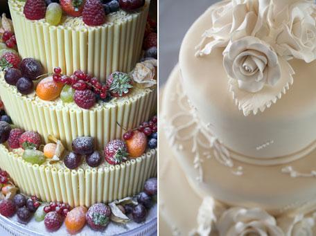 Воздушный свадебный торт
