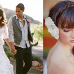 Украшай свадебную прическу живыми цветами