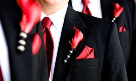 Свадебная бутоньерка жениха