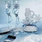 Бокалы специально для зимней свадьбы