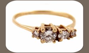 Обручальное кольцо с 4 бриллиантами