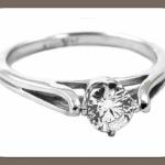 Выбирай колечко из белого золота с одним бриллиантом