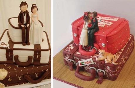 Свадебный торт-чемодан