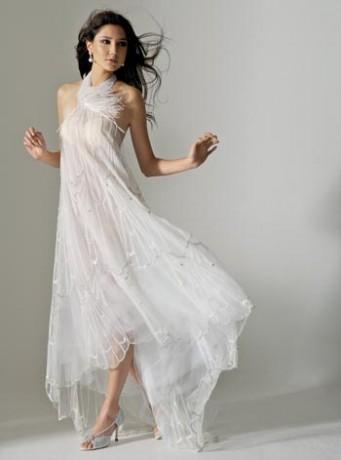 Прозрачное платье невесты