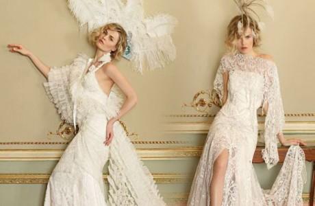 Оформление свадьбы перьями