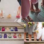 Фотографируем туфельки прямо на ножках у подружек невесты