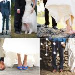 Отличное решение - фото свадебной обуви новоиспеченных супругов