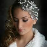 Свадебная шляпка из жемчуга
