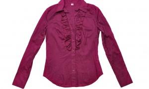 Блузка из натурального хлопка - цвет пурпур