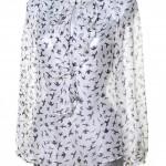 Нежная двухцветная блузка