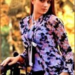 Яркая вязаная блузка