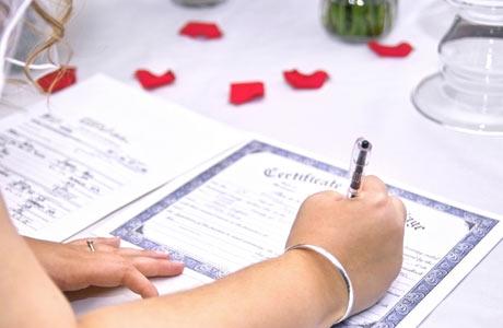 Смена документов после свадьбы