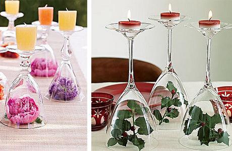 Свечи для столов на свадьбе