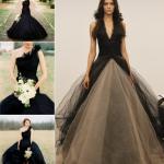 Для невест, которые любят удивлять, черный свадебный наряд