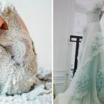 Нежный небесный свадебный наряд тоже великолепно впишется в твой свадебный образ