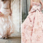 Розовый свадебный наряд - идеальный вариант для нежной и трогательной невесты