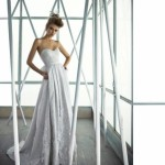 Элегантный свадебный наряд в пол для гламурной невесты