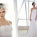 Свадебное платье без бретелек с оригинальной вуалью
