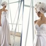 Платье в стиле ампир и необычная вуаль