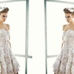 Оригинальное свадебное платье с кружевами для невесты, которая любит удивлять