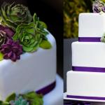 Белоснежный прекрасно гармонирует с зеленым и фиолетовым