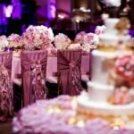 Золотистый и розовый - идеальные цвета для свадебного лакомства