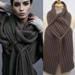 Необычные шарфы со шнуровкой