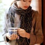 Плотный шарф и берет