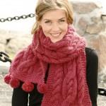 Толстый шарф-воротник