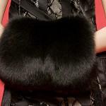 Шикарная меховая модная муфта