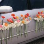 Очень оригинальное решение для свадебного авто