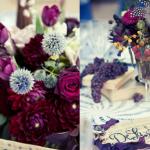 Благородный фиолетовый  - прекрасная расцветка для свадебного букета