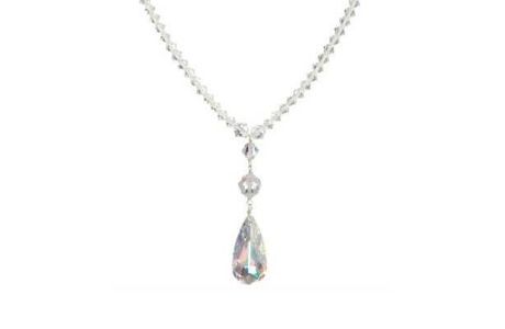 Ожерелье для невесты из стерлингового серебра от Swarovski
