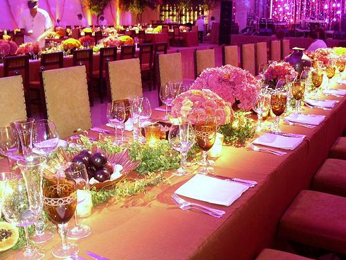 оформление свадебные столы фото