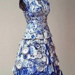 Свадебное платье из фарфора